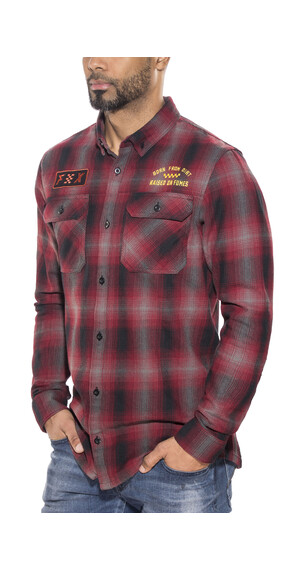 Fox Gorman Overshirt Men Dark Red
